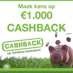 Cashback actie TuinKeur hoveniers